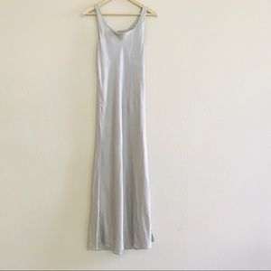 Cacique Grey Silk Lingerie Nightgown SZ S